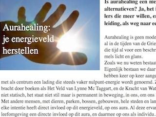 Aurahealing publicatie Koorddanser